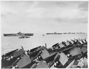 warbirds - WWII aircraft on deck of aircraft carrier